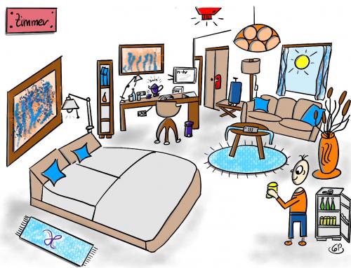 Visualisierung Hygiene in Hotels für ein Mietwäscheunternehmen